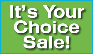 It's your choice sale going on now!  0% financing for 36 months or free installation on all flooring!  Offer excludes tile.  Sale ends April 30th - Includes moving furniture - Includes removal of old carpet and pad.