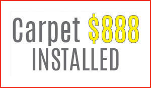 3 rooms of carpet just $888 installed at Ted's Abbey Carpet & Floor!* 0% Financing available!
