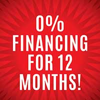 0% Financing for 12 Months!