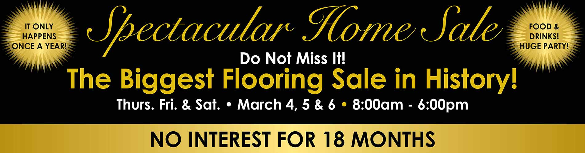 Save on Flooring during our Spectacular Home Sale at Ted's Abbey Carpet in Anniston
