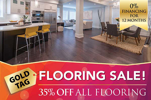 35% off all flooring at Ted's Abbey Carpet & Floor in Anniston